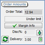 Sales Order Order amounts area